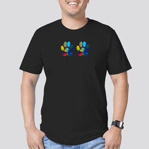 2 PAWS Men's Fitted T-Shirt (dark)