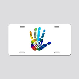 Massage Hand Aluminum License Plate