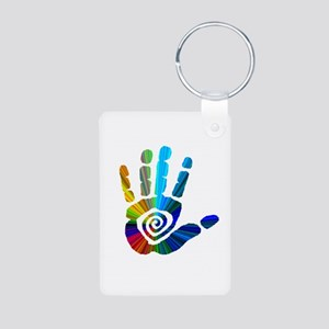 Massage Hand Aluminum Photo Keychain