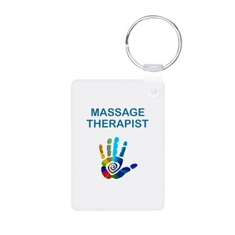 MASSAGE THERAPIST Aluminum Photo Keychain