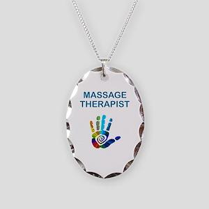 MASSAGE THERAPIST Necklace Oval Charm
