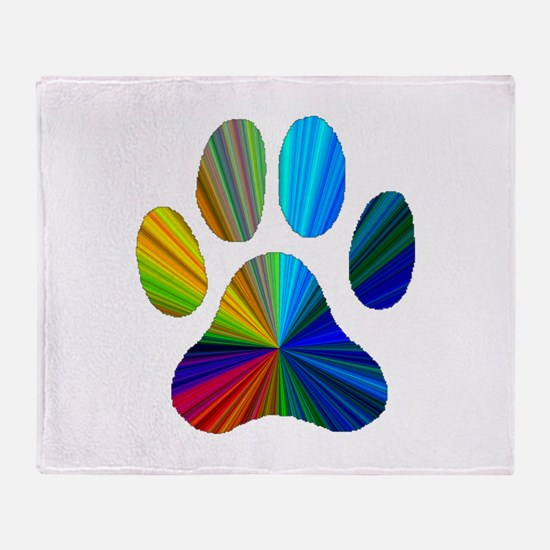 Cute Animal tracks Throw Blanket