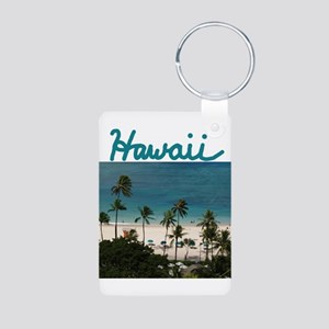 Hawaii Aluminum Photo Keychain