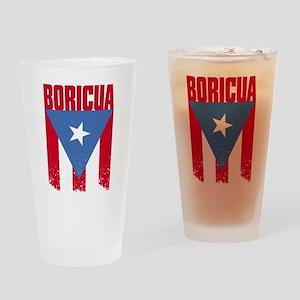 Boricua Flag Drinking Glass