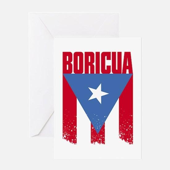 Boricua Flag Greeting Card