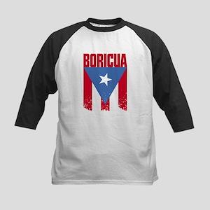 Boricua Flag Kids Baseball Jersey