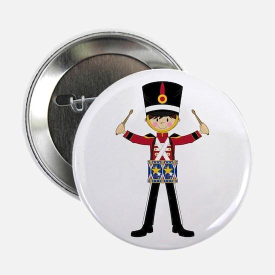 """Nutcracker Soldier with Drum 2.25"""" Button"""