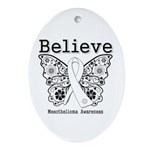 Believe - Mesothelioma Ornament (Oval)