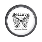Believe - Mesothelioma Wall Clock