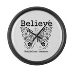Believe - Mesothelioma Large Wall Clock