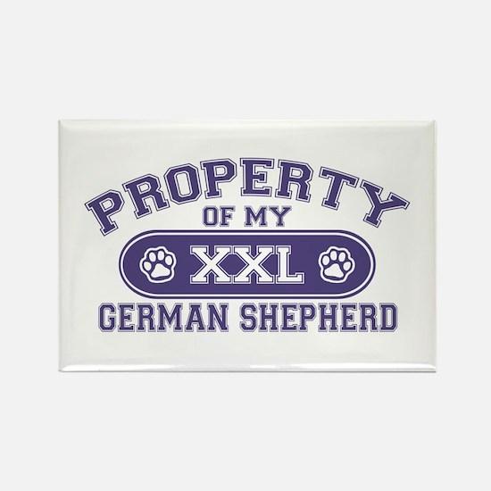 German Shepherd PROPERTY Rectangle Magnet