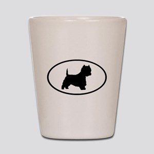 West Highland Terrier Oval Shot Glass