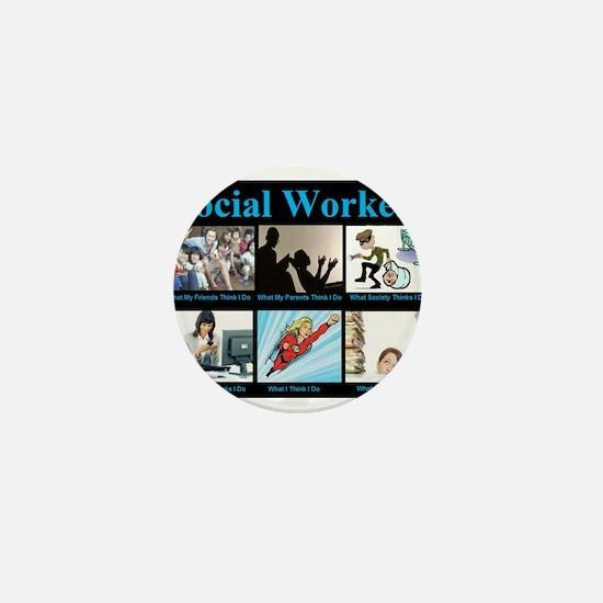 Social Worker Job Mini Button
