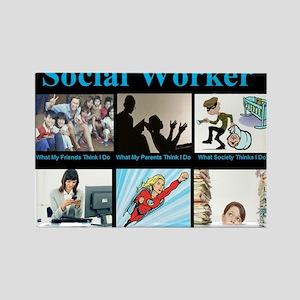 Social Worker Job Rectangle Magnet