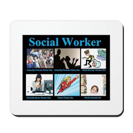 Social Worker Job Mousepad