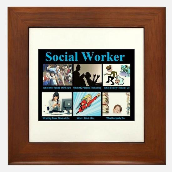 Social Worker Job Framed Tile