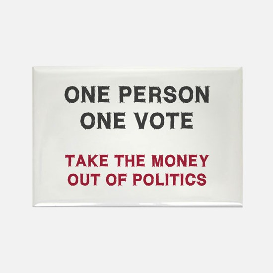 One Person One Vote Rectangle Magnet