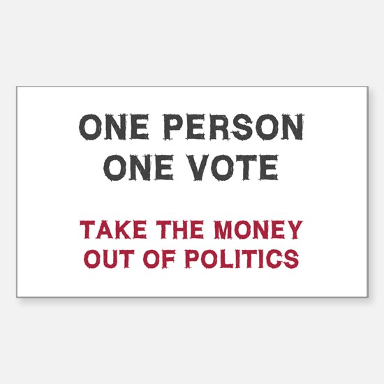 One Person One Vote Sticker (Rectangle)