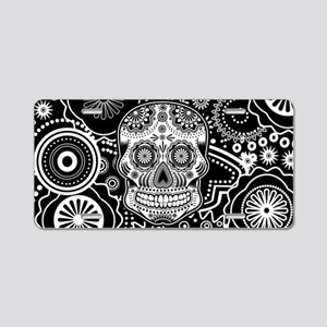 Skull Aluminum License Plate