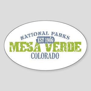 Mesa Verde Colorado Sticker (Oval)