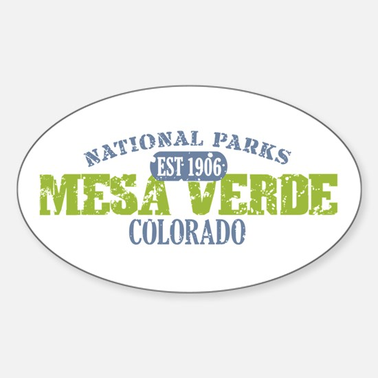 Mesa Verde Colorado Sticker (Oval)