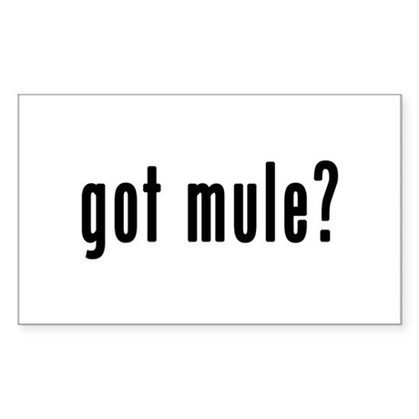 GOT MULE Sticker (Rectangle)
