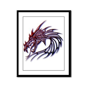 Dragons Head Framed Panel Print