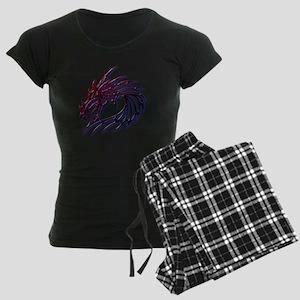 Dragons Head Women's Dark Pajamas