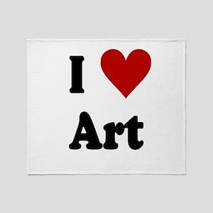 I Love Art Throw Blanket