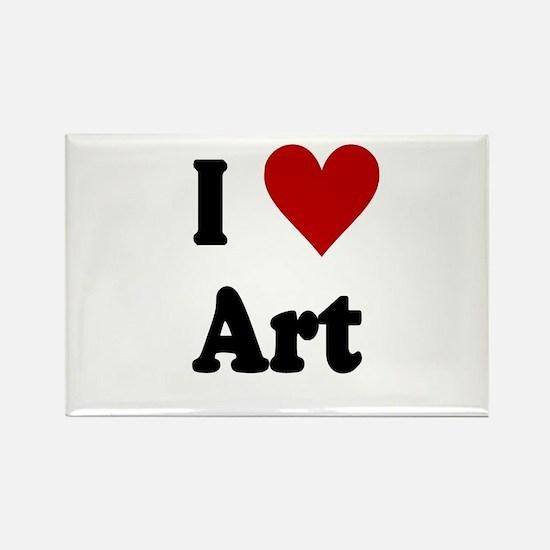 I Love Art Rectangle Magnet