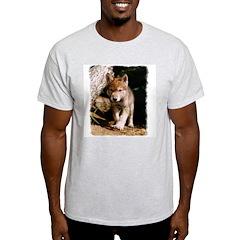 Approaching Wolf Pup Ash Grey T-Shirt