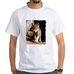 Approaching Wolf Pup White T-Shirt