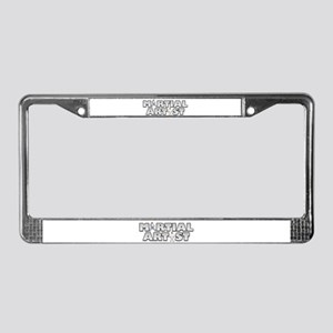 Martial Artist License Plate Frame