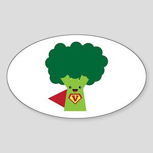 Super Broccoli Sticker (Oval)