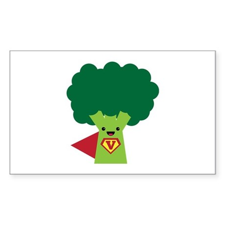 Super Broccoli Sticker (Rectangle)