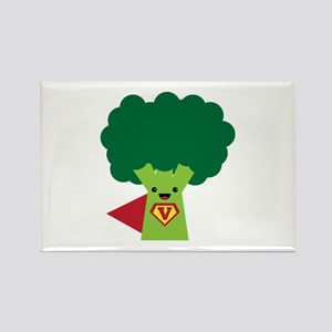 Super Broccoli Rectangle Magnet
