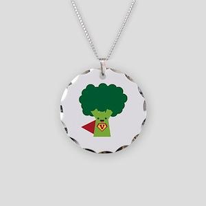 Super Broccoli Necklace Circle Charm