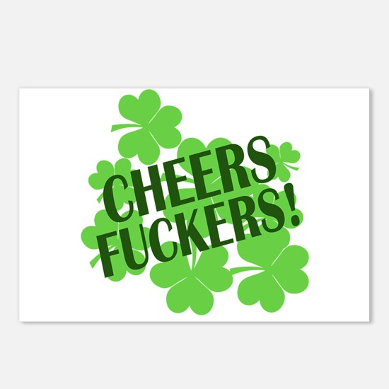 Cheers Fuckers Funny St Pats Postcards (Package of