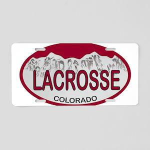 Lacrosse Colo Plate Aluminum License Plate