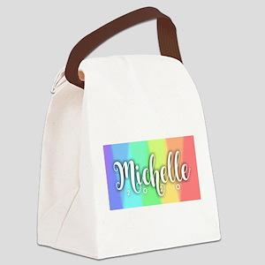 Michelle 2020 Rainbow Canvas Lunch Bag