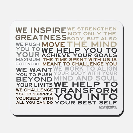Trainer Manifesto Mousepad