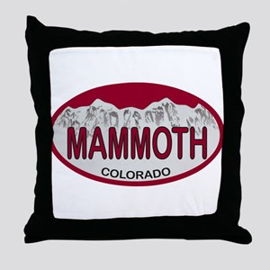 Mammoth Colo Plate Throw Pillow