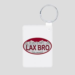 Lax Bro Colo Plate Aluminum Photo Keychain