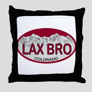 Lax Bro Colo Plate Throw Pillow