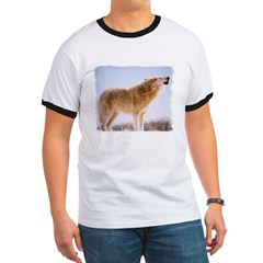 Howling White Wolf T