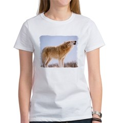 Howling White Wolf Women's T-Shirt