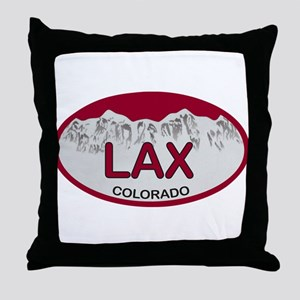 Lax Colo Plate Throw Pillow