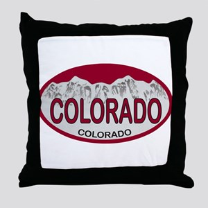 COLORADO Colo Plate Throw Pillow