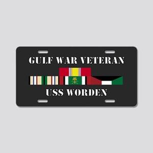 USS Worden Gulf War Veteran Aluminum License Plate