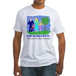 Abuse Awareness Fitted T-Shirt